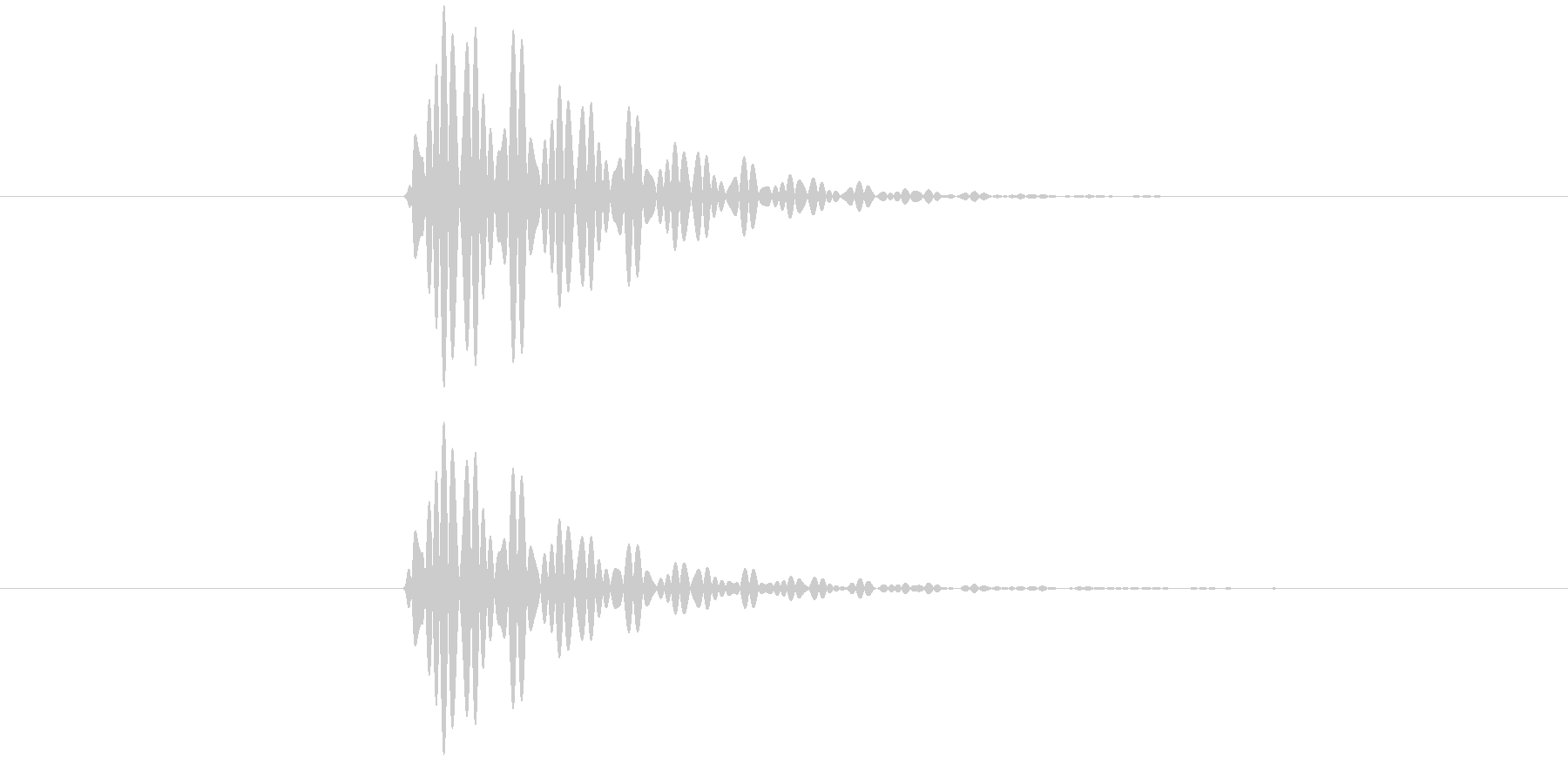 ポン(タップ音・システム・エラー・通知)の未再生の波形