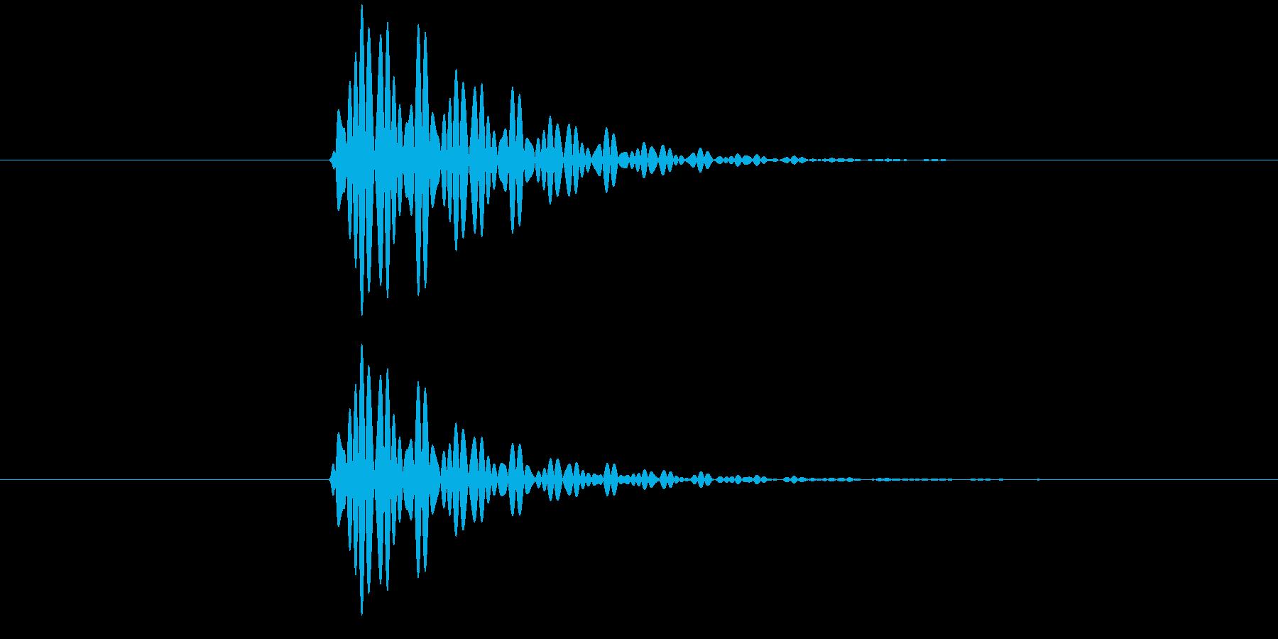 ポン(タップ音・システム・エラー・通知)の再生済みの波形