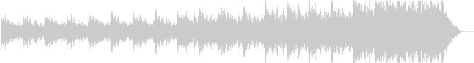 緊迫感のあるシネマティックBGMの未再生の波形