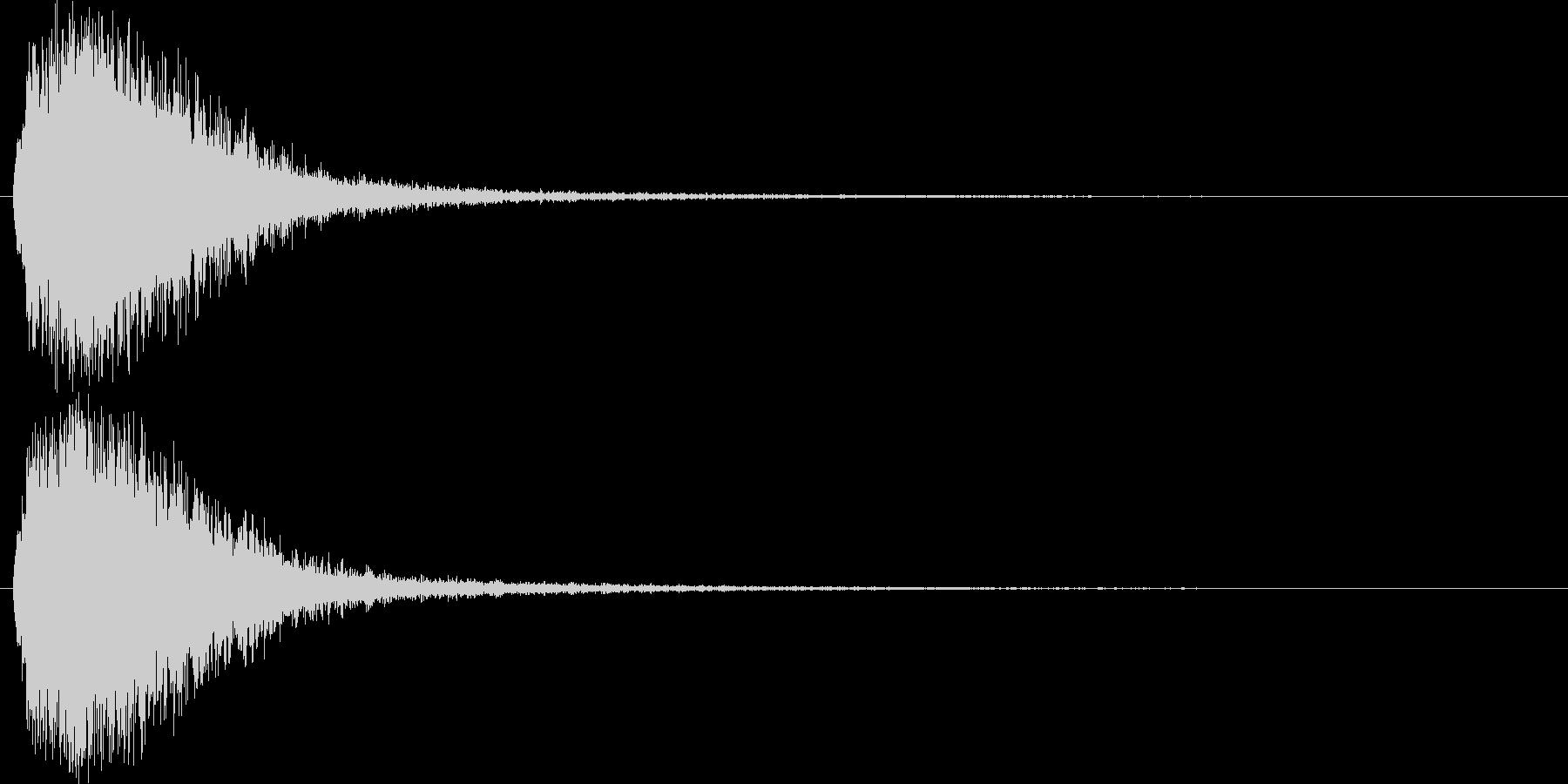 注意を引くインパクトのある音#4の未再生の波形