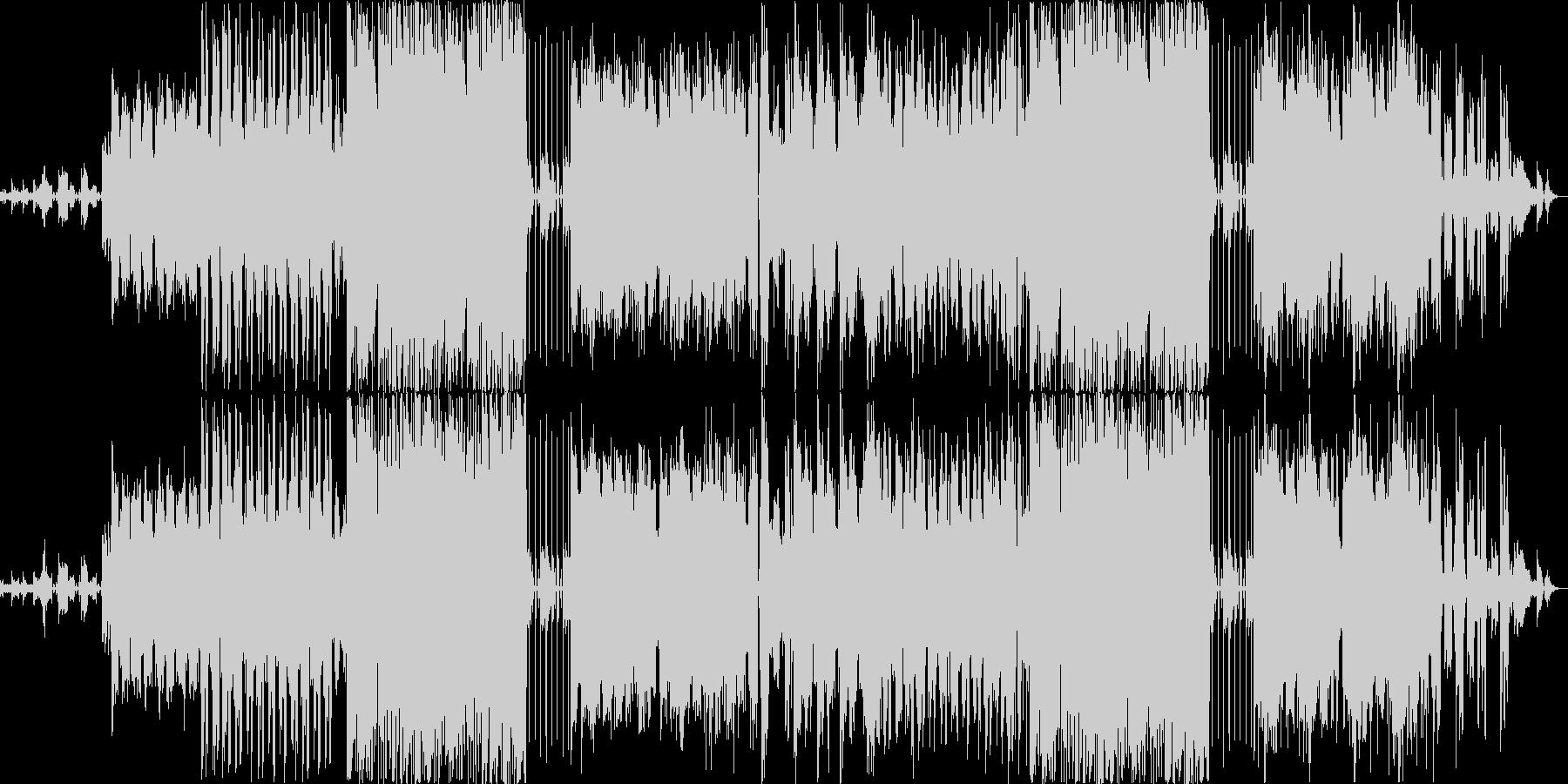 テンションとサスペンスの未再生の波形