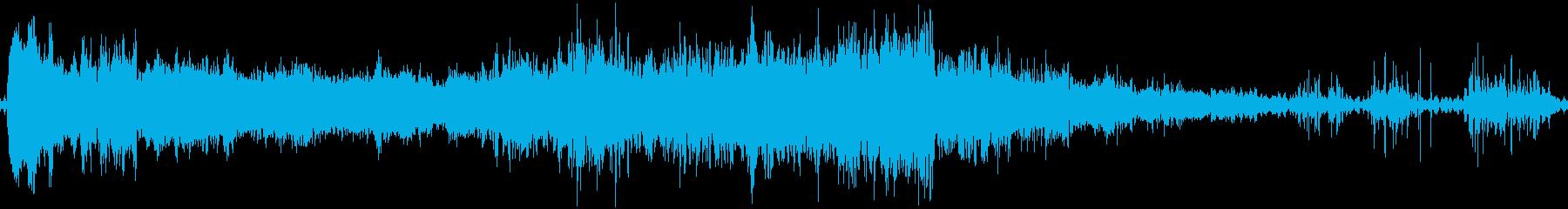 カプチーノの高い泣き声の泡の再生済みの波形