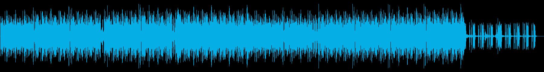 ミニマルテクノ風ワイルドなテクスチャーの再生済みの波形