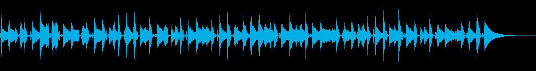ほのぼのしたシーン。シンプルなアコギの音の再生済みの波形
