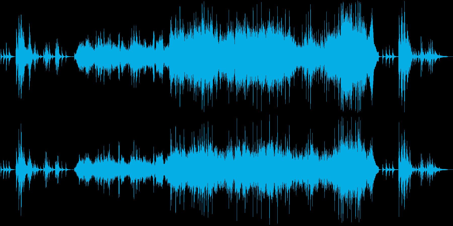 壮大で神秘的なイメージのピアノソロの再生済みの波形