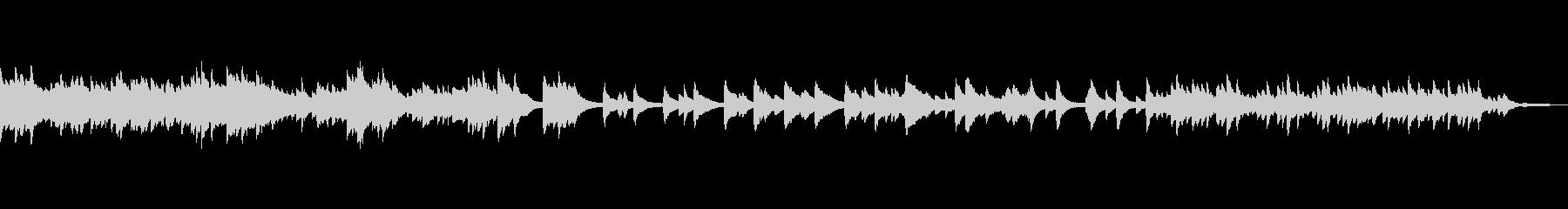 ホラー要素を思わせる怖く切ないピアノ曲の未再生の波形