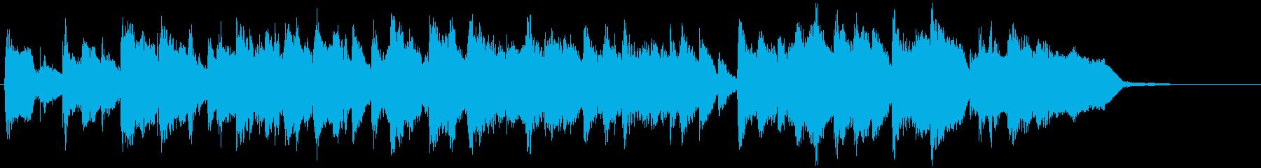フルートとブラスのほのぼのラテンジングルの再生済みの波形