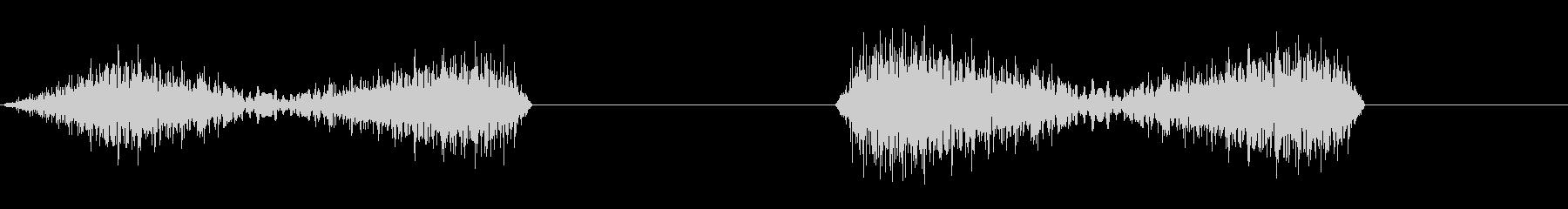 DJプレイ スクラッチ・ノイズ 8 二連の未再生の波形
