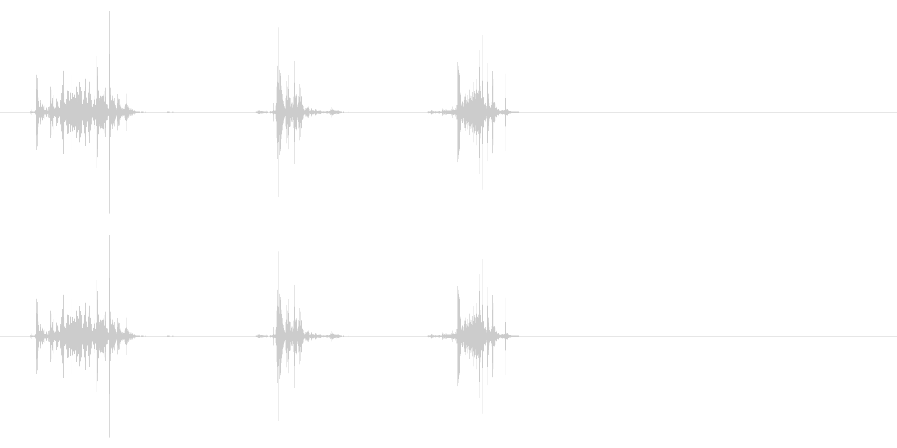 紙を破る6の未再生の波形