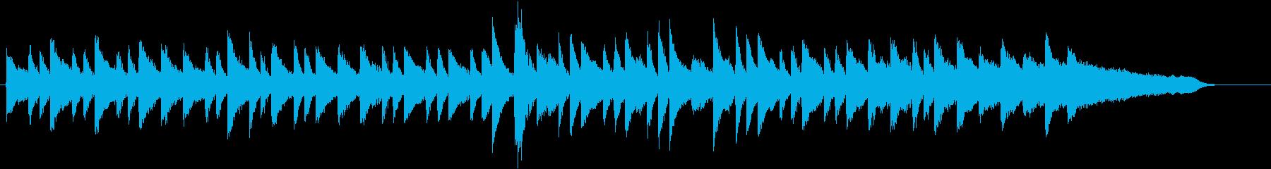爽快スピード感!ウインターピアノジングルの再生済みの波形