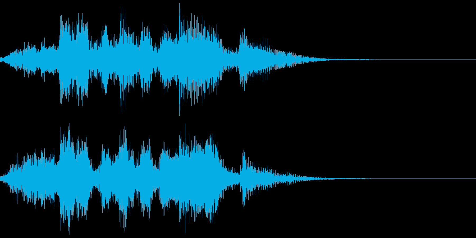 失敗系のジングルの再生済みの波形