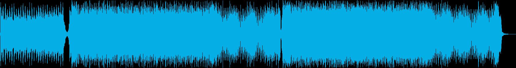 事件や危険な場面に流れるロックBGMの再生済みの波形