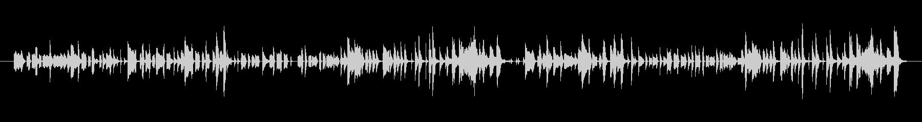エレクトリックピアノによるコミカルな演奏の未再生の波形