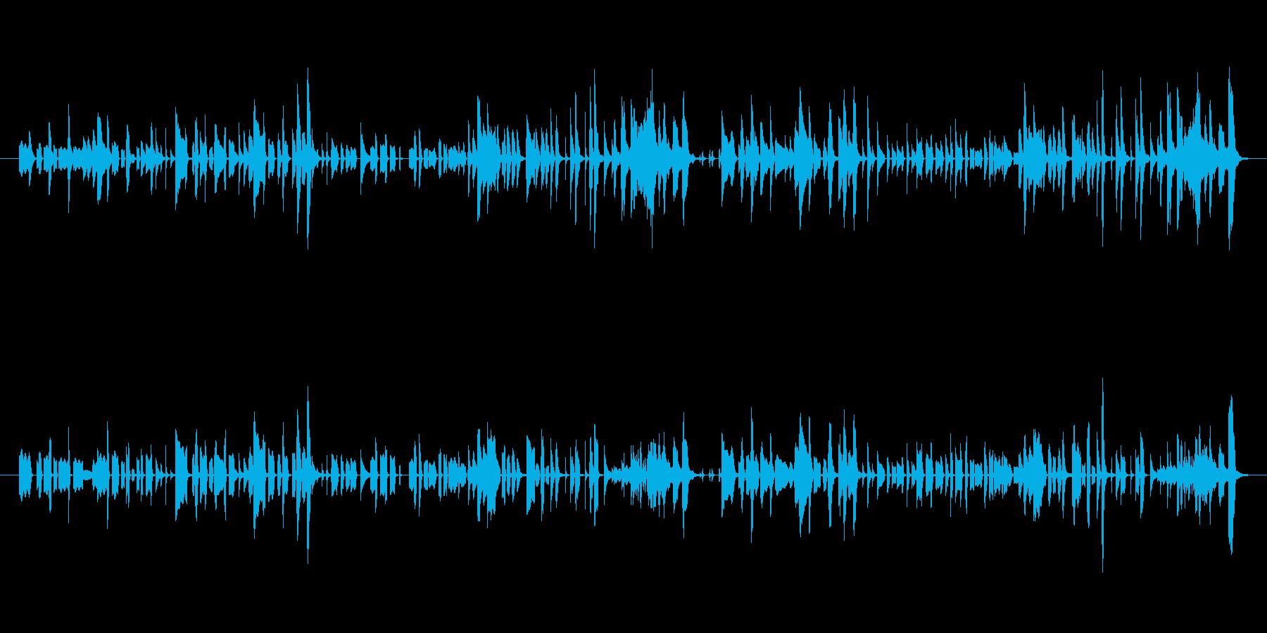 エレクトリックピアノによるコミカルな演奏の再生済みの波形