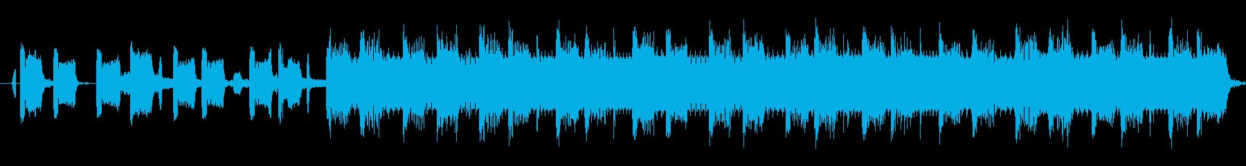 夜のプールで炭酸を飲む男のメロウグルーブの再生済みの波形