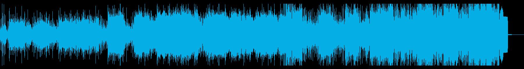 デジタルで陰鬱なアンビエントメタルの再生済みの波形