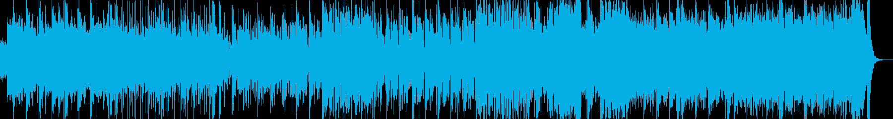 三味線・尺八・琴・和太鼓とストリングスの再生済みの波形