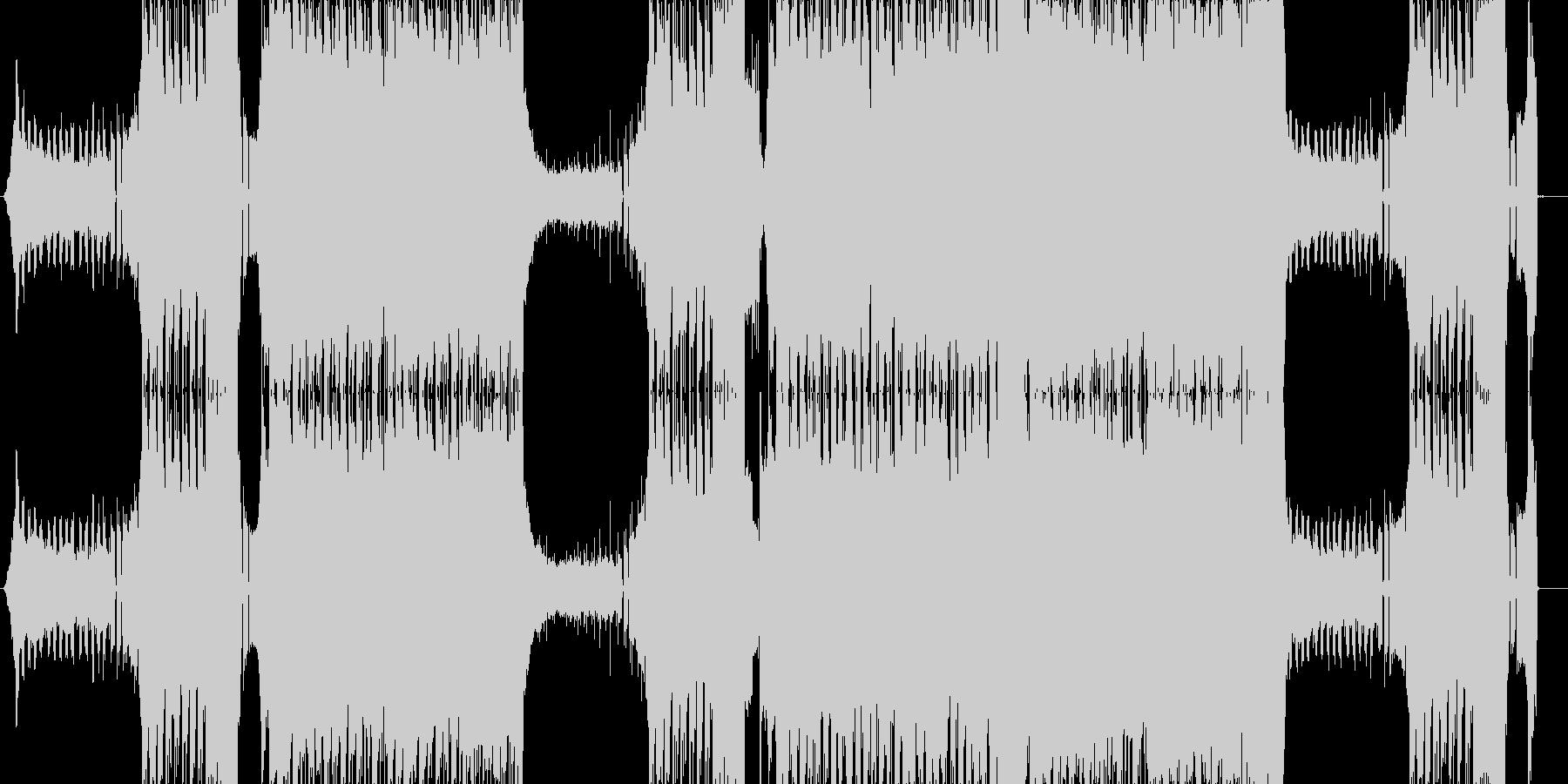 エッジのきいたパワフルなEDMの未再生の波形