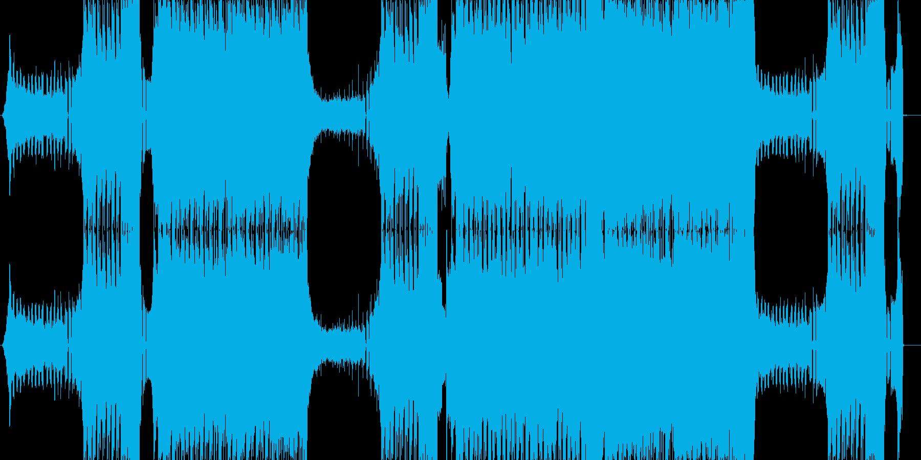 エッジのきいたパワフルなEDMの再生済みの波形
