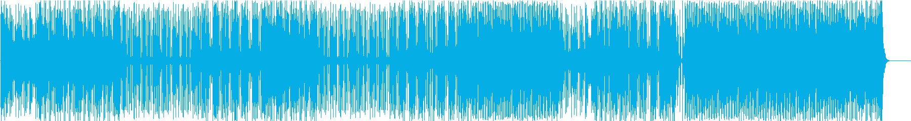 ノリの良いダークなインスト曲の再生済みの波形