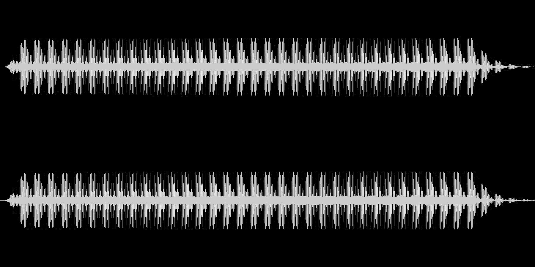 ピッ(電子音、カーソル、選択音)の未再生の波形