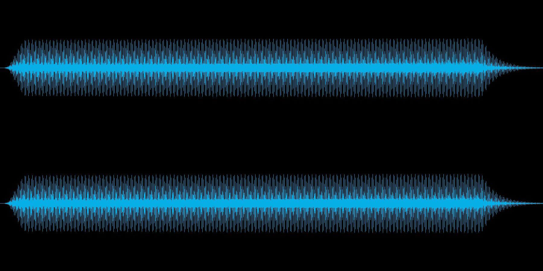 ピッ(電子音、カーソル、選択音)の再生済みの波形