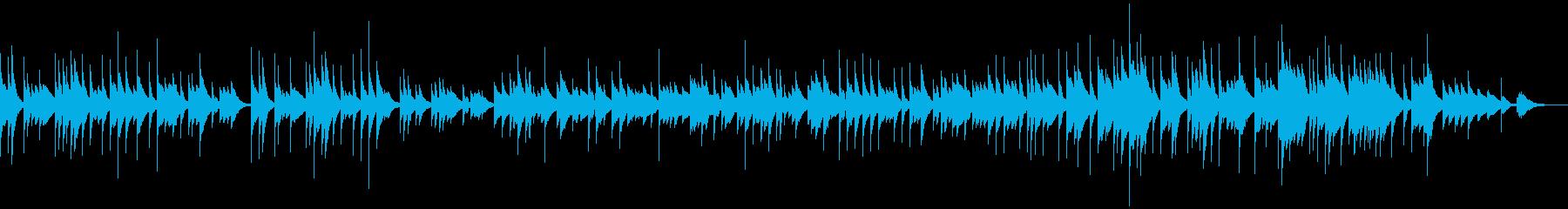 オルゴール風の優しい曲の再生済みの波形