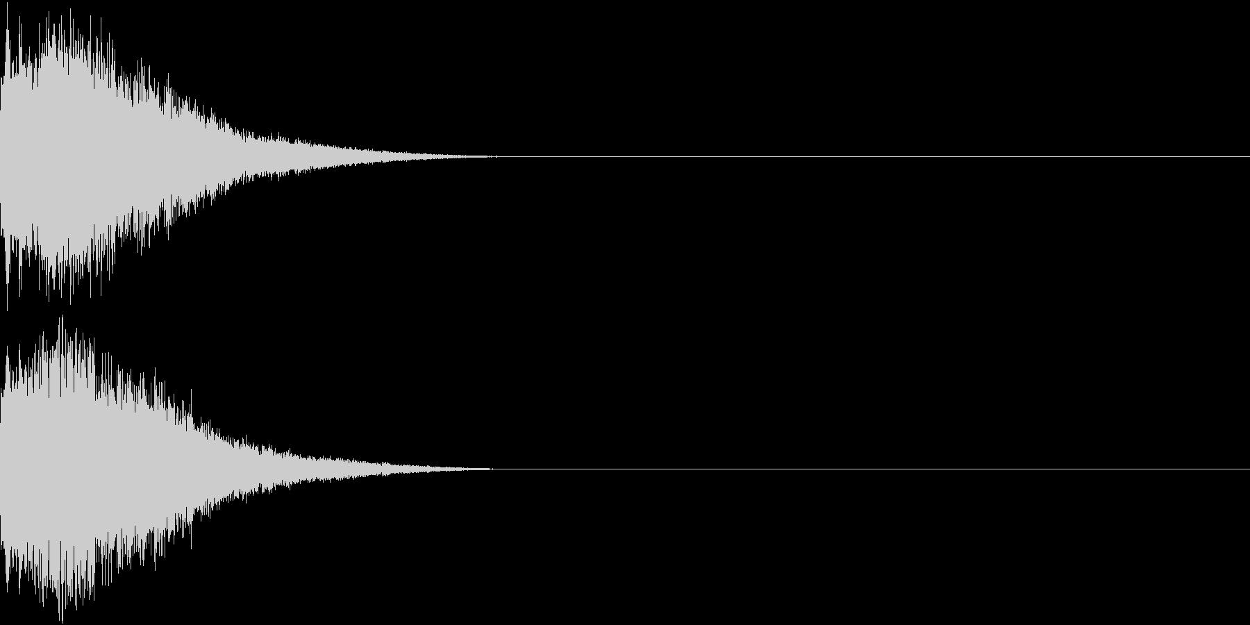 刀 剣 カキーン シャキーン 目立つ27の未再生の波形