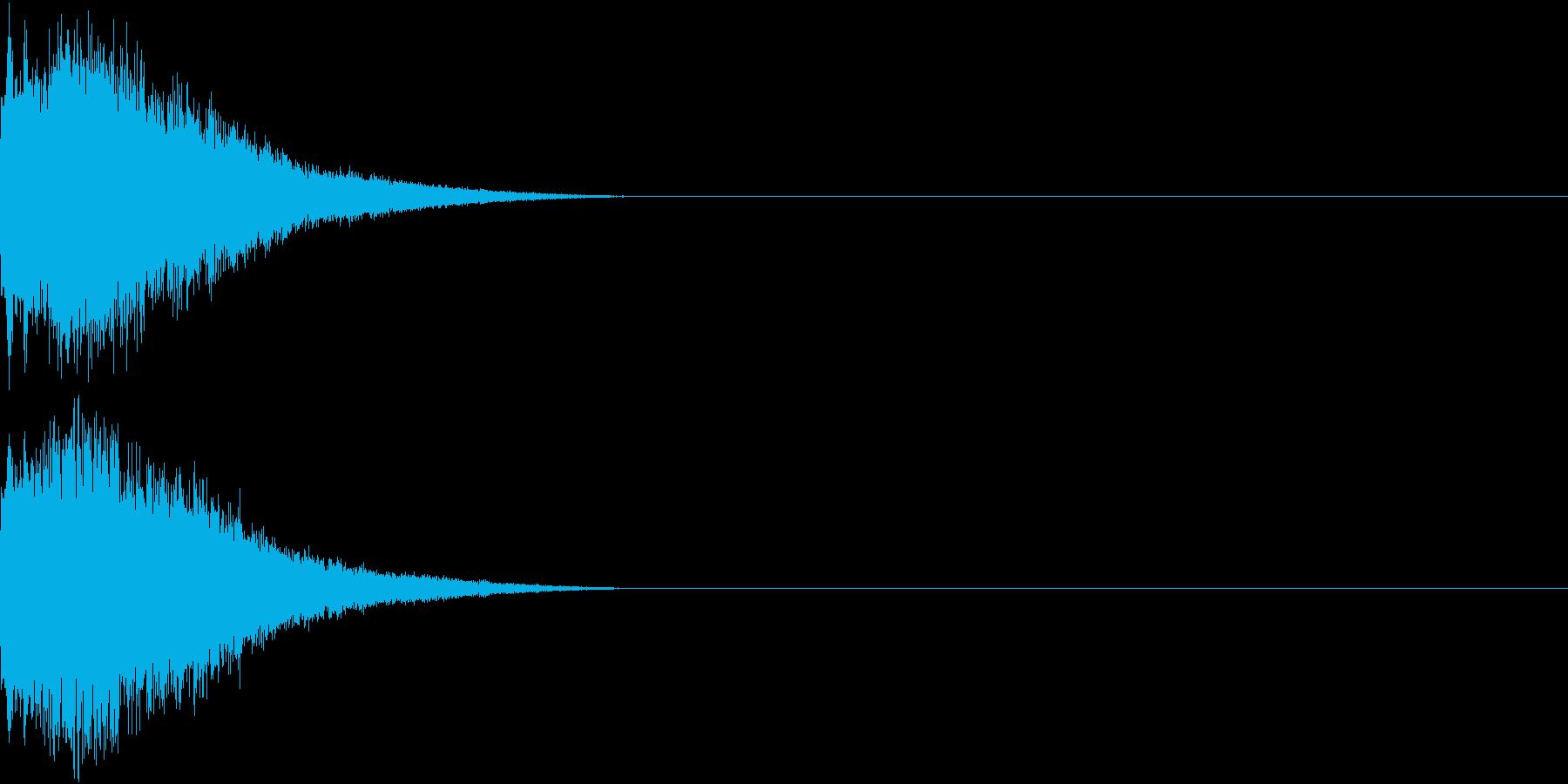 刀 剣 カキーン シャキーン 目立つ27の再生済みの波形