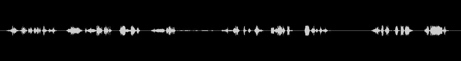 奇妙なエイリアンの声;低いコンピュ...の未再生の波形