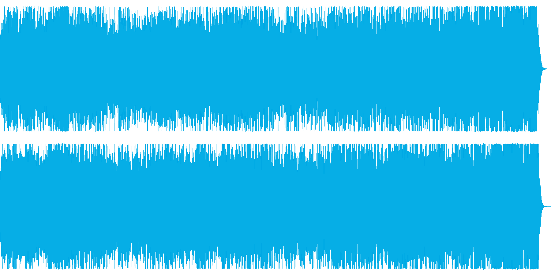 戦地へ向かうイメージのオーケストラBGMの再生済みの波形