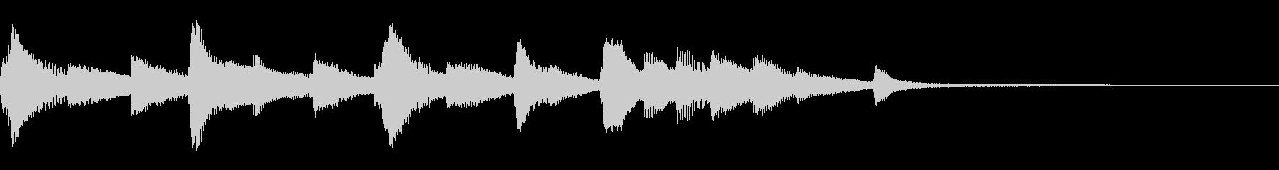 切ないピアノのジングル27の未再生の波形