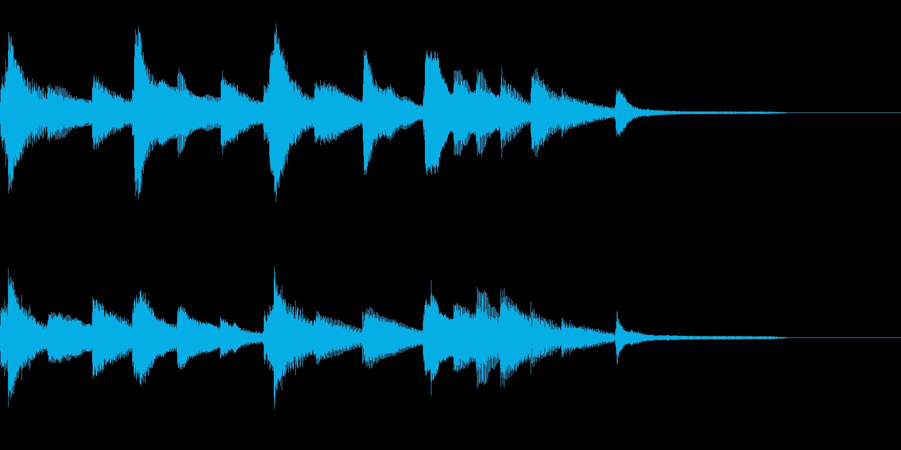 切ないピアノのジングル27の再生済みの波形