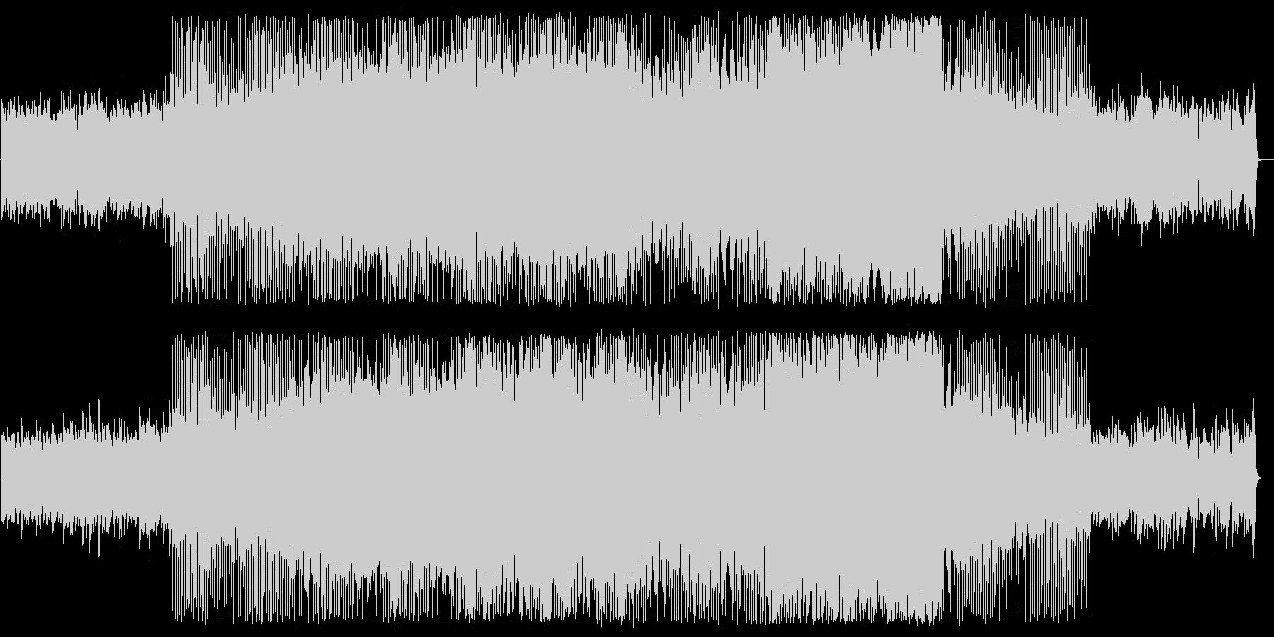穏やかで軽快なピアノテクノポップサウンドの未再生の波形