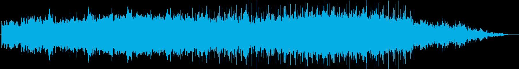透明感・清潔感のあるアンビエント音楽の再生済みの波形