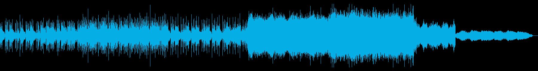 シンセサイザーが印象的なロックの再生済みの波形
