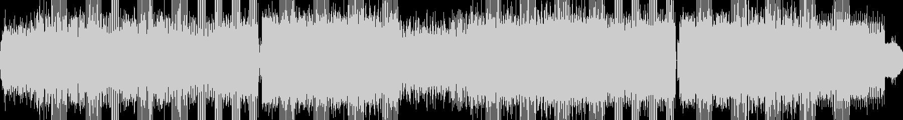 無機質なテクノサウンドの未再生の波形