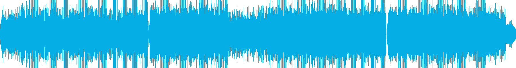 無機質なテクノサウンドの再生済みの波形