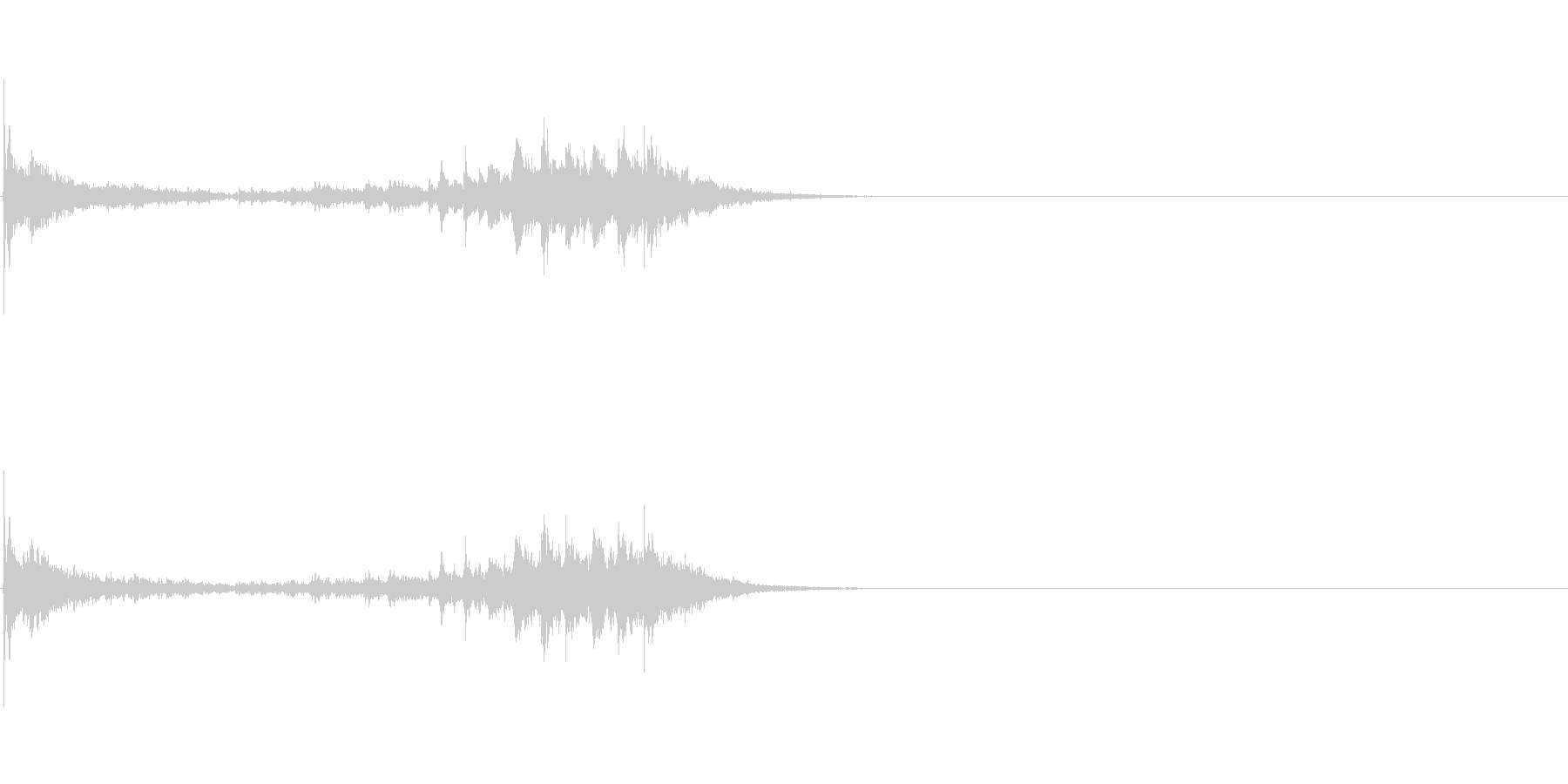生演奏 琵琶 和風 古典風 残響有#17の未再生の波形
