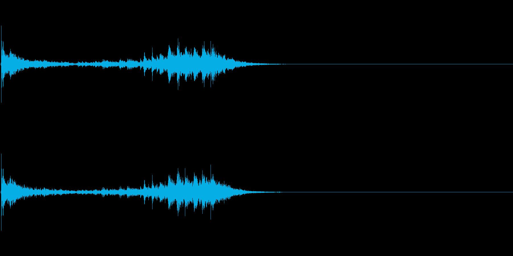 生演奏 琵琶 和風 古典風 残響有#17の再生済みの波形