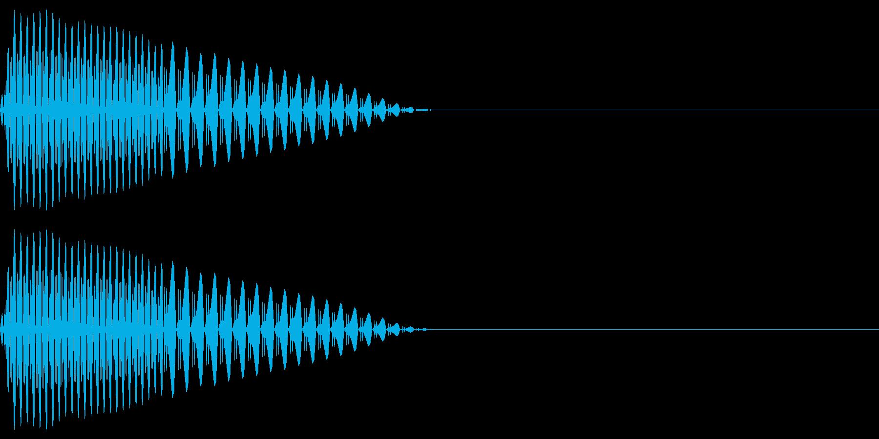 ピポッ(決定/キャンセル/選択ファミコンの再生済みの波形