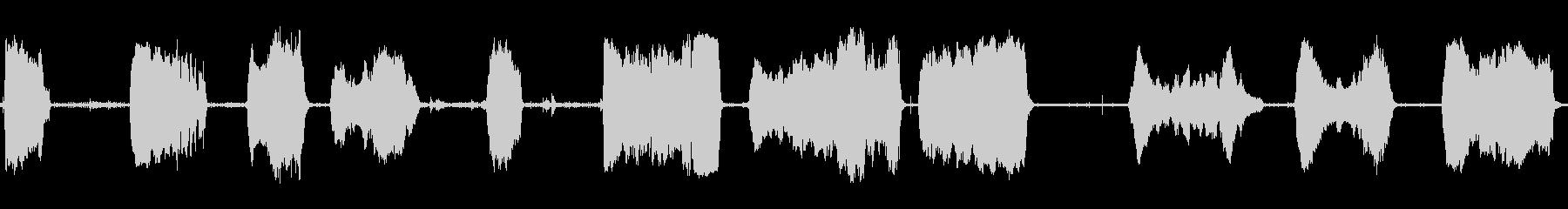 猫のハウルの危険なニャーの未再生の波形