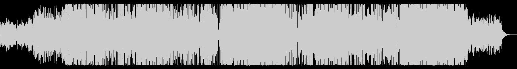 穏やかでスピード感あるテクノポップの未再生の波形