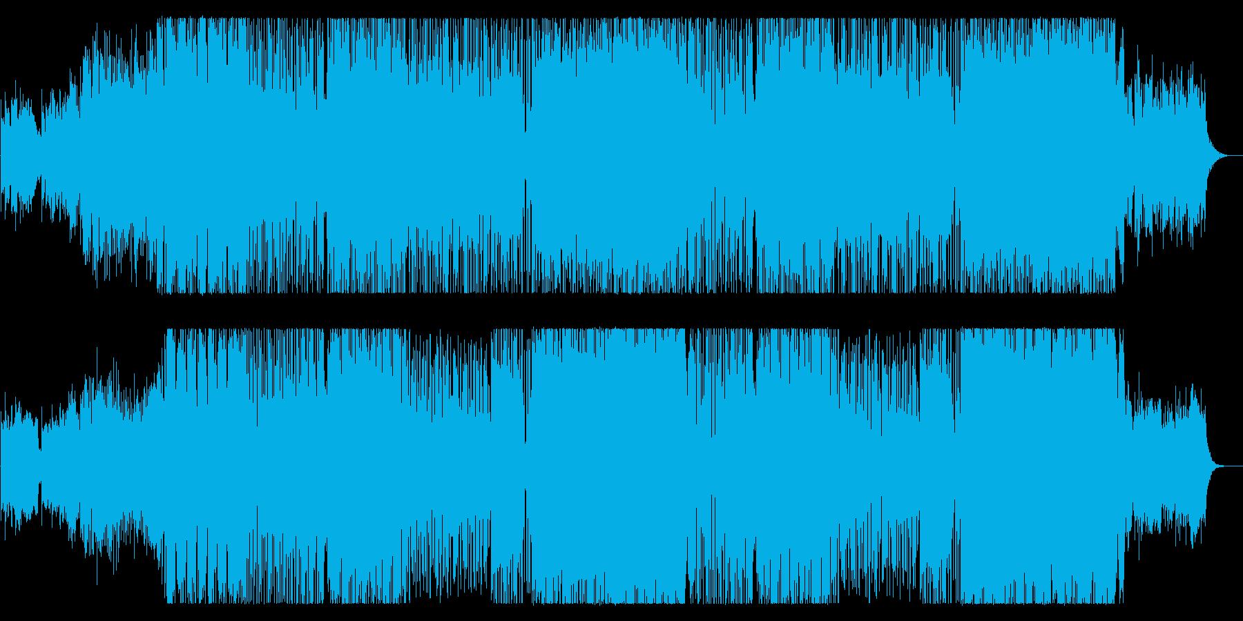 穏やかでスピード感あるテクノポップの再生済みの波形