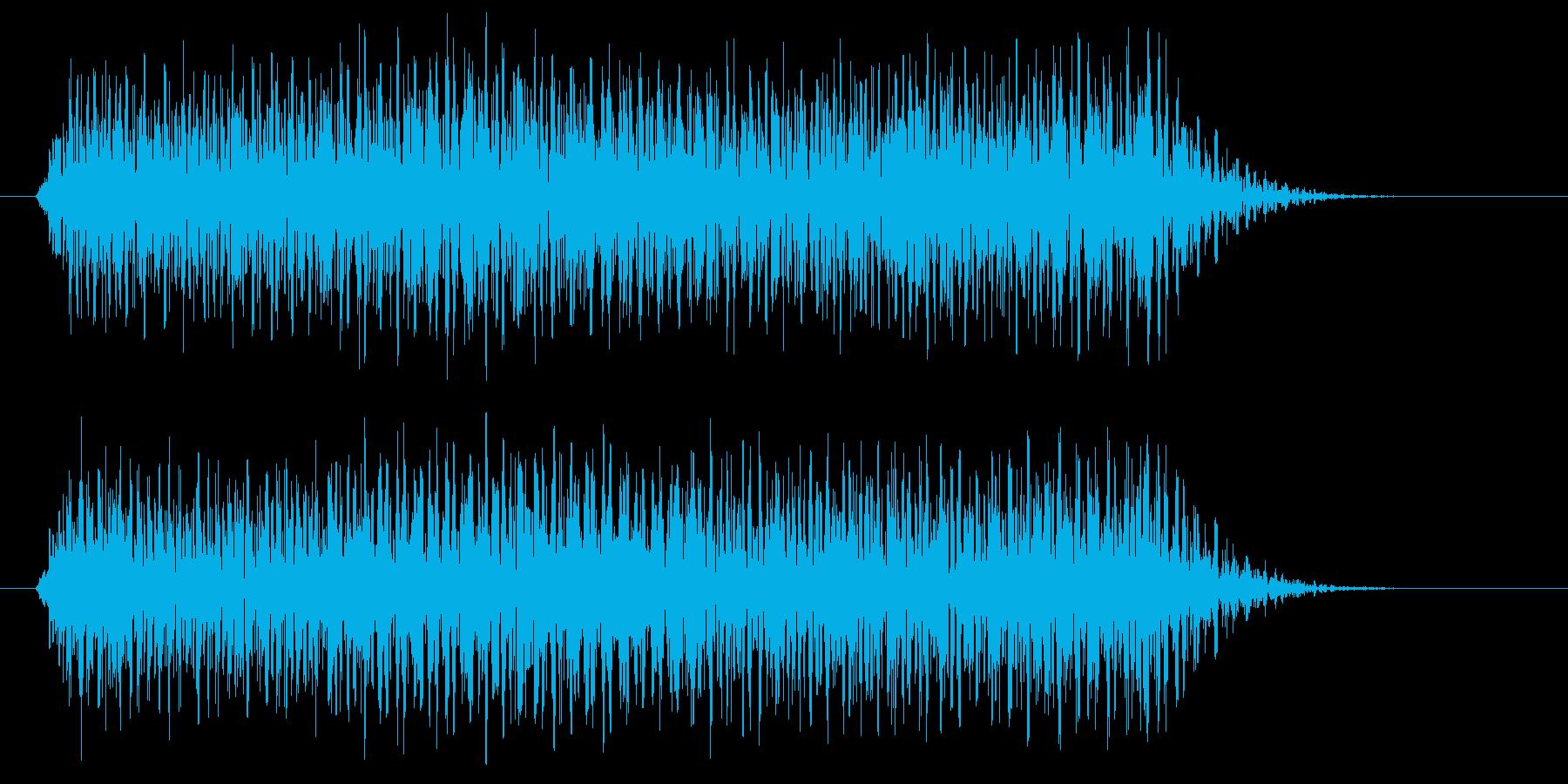 タァーー(電子音)の再生済みの波形