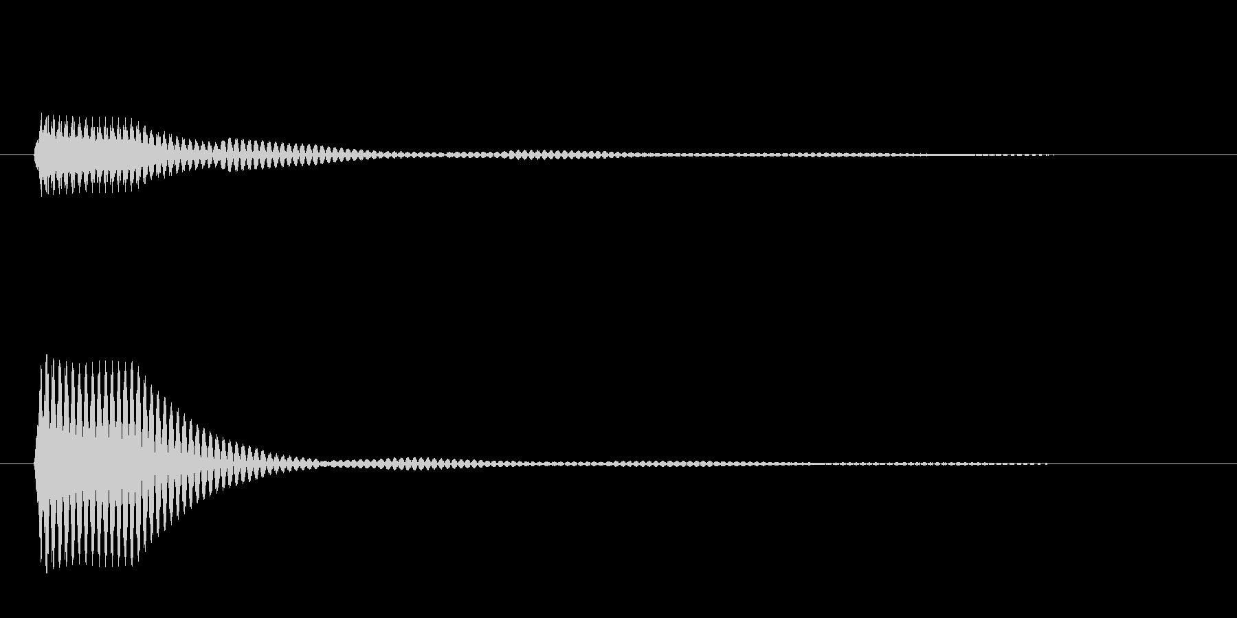 ポン(選択音 決定音 ボタン音)の未再生の波形