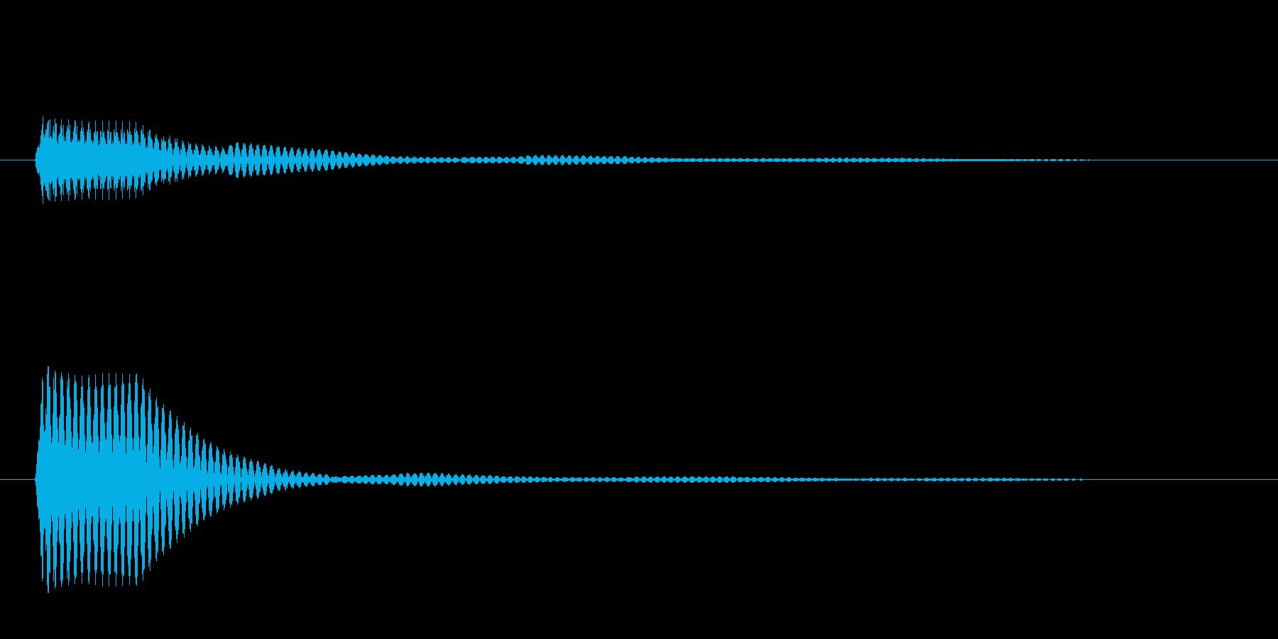 ポン(選択音 決定音 ボタン音)の再生済みの波形
