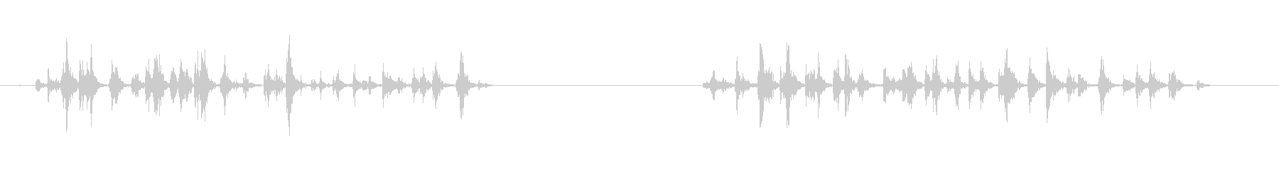 2Xを実行する足跡宇宙船グループの未再生の波形