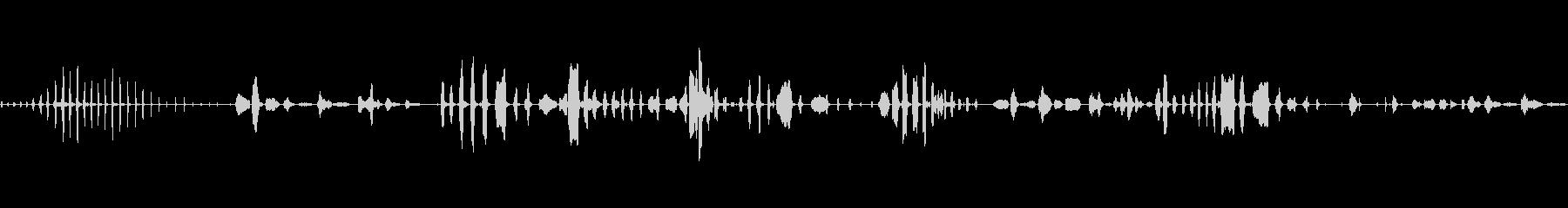 笑いとギャップ:女性の笑い声の未再生の波形