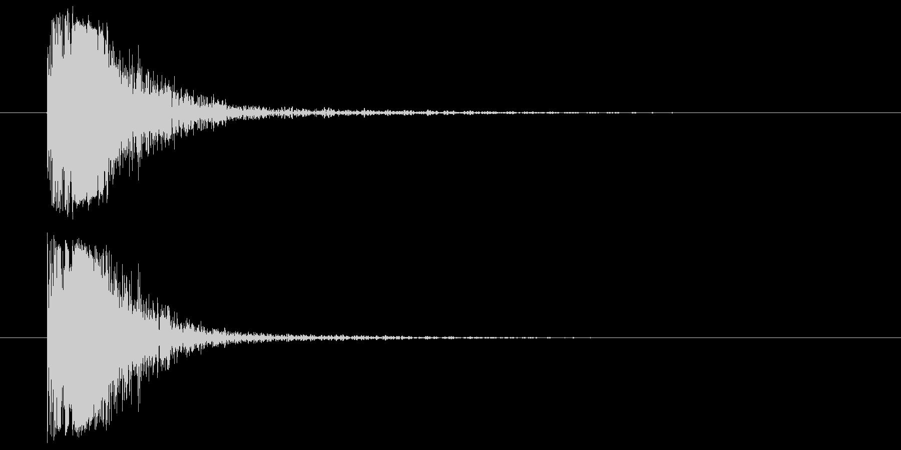 アルミニウムヒットメタルインパクトの未再生の波形